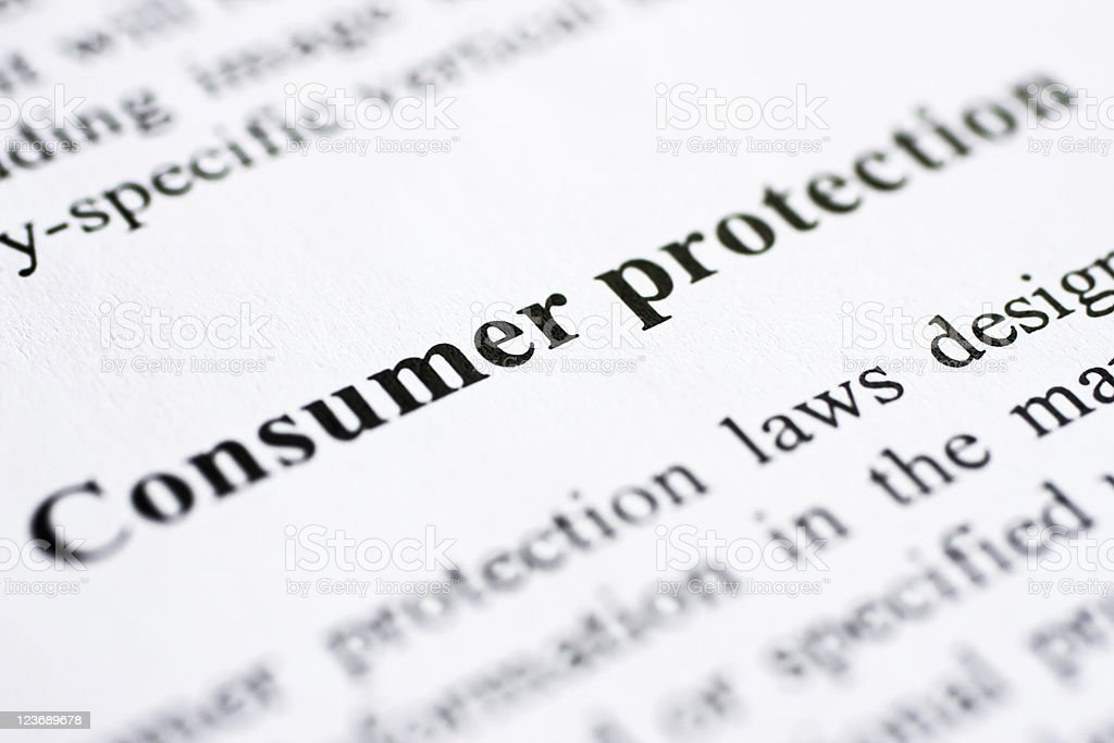 Consumer protection stock photo