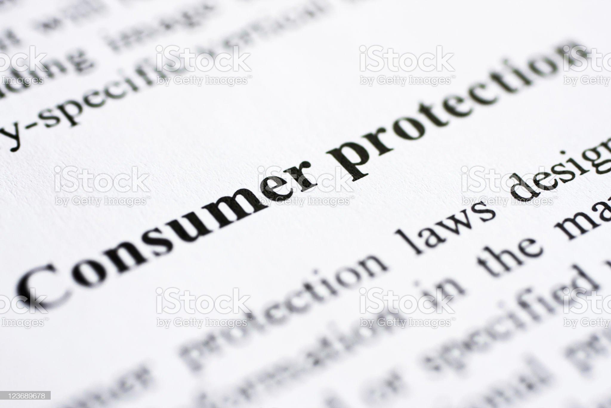 Consumer protection royalty-free stock photo