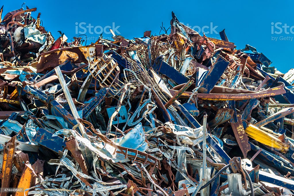 consumerist chaos of ferrous stock photo