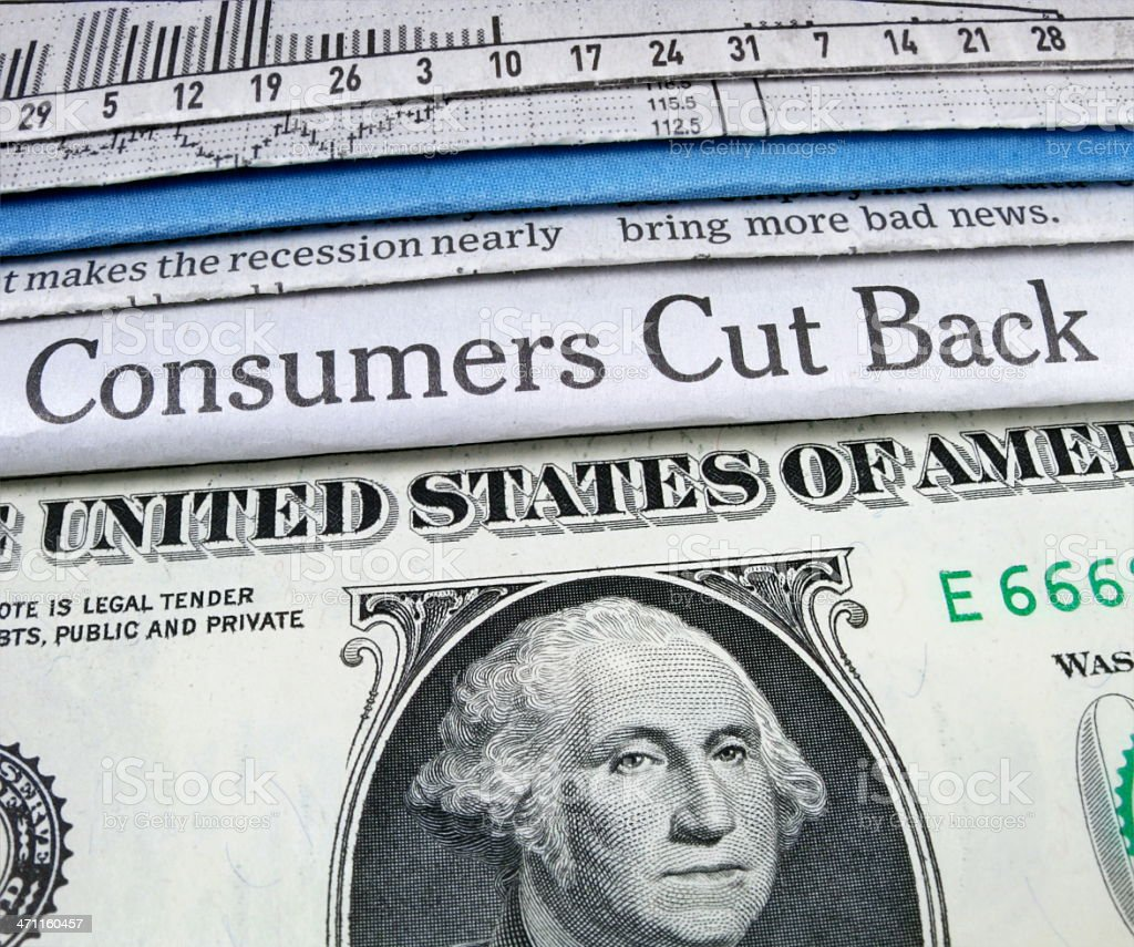 Consumers Cut Back stock photo