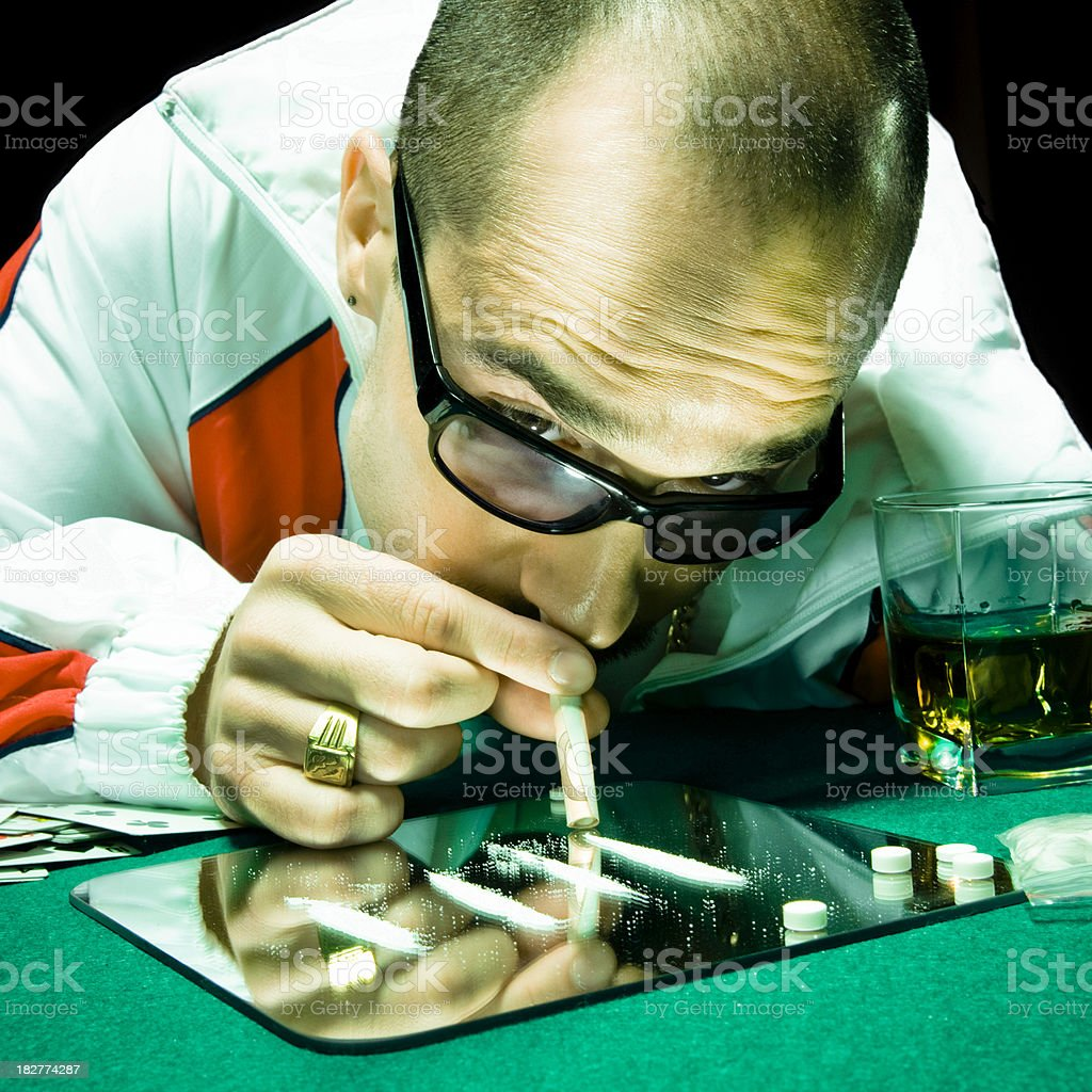Consuming Drugs stock photo