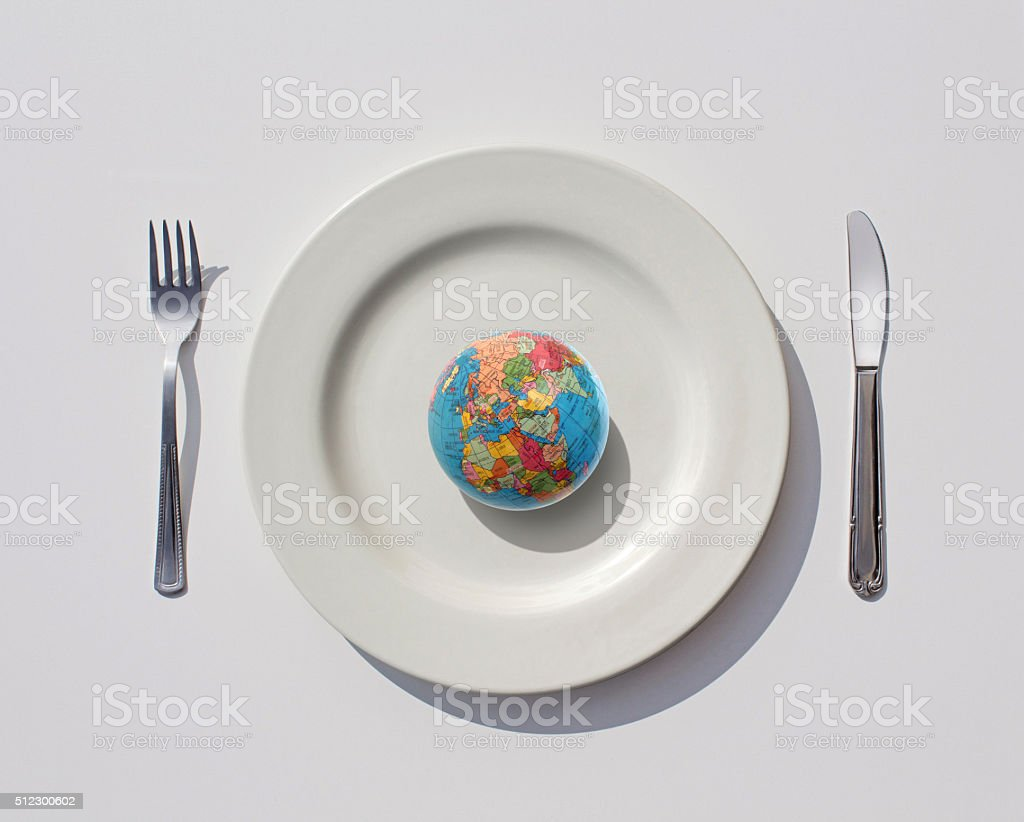 Consuming The World stock photo
