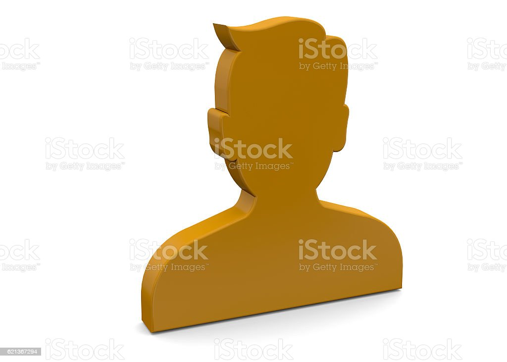 Contact Icon - 3D stock photo