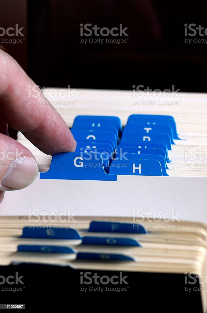 Contact Keeper royalty-free stock photo