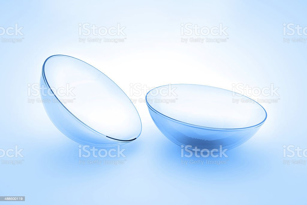 contact lens close up macro 3d render stock photo