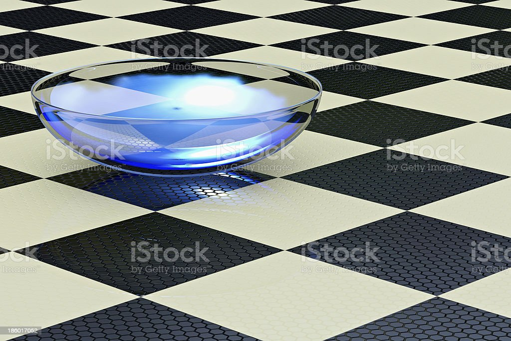 Contact lense - 3d rendered illustration stock photo