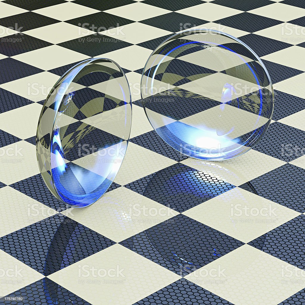 Contact lenses - 3d rendered illustration stock photo