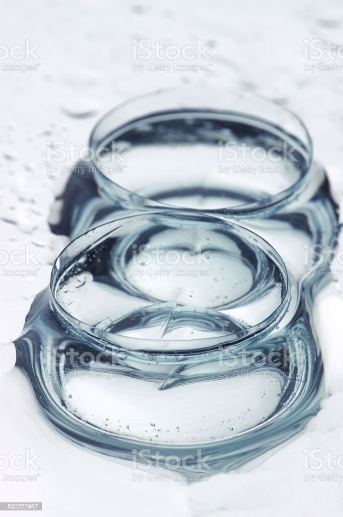 Contact lenses close-up stock photo