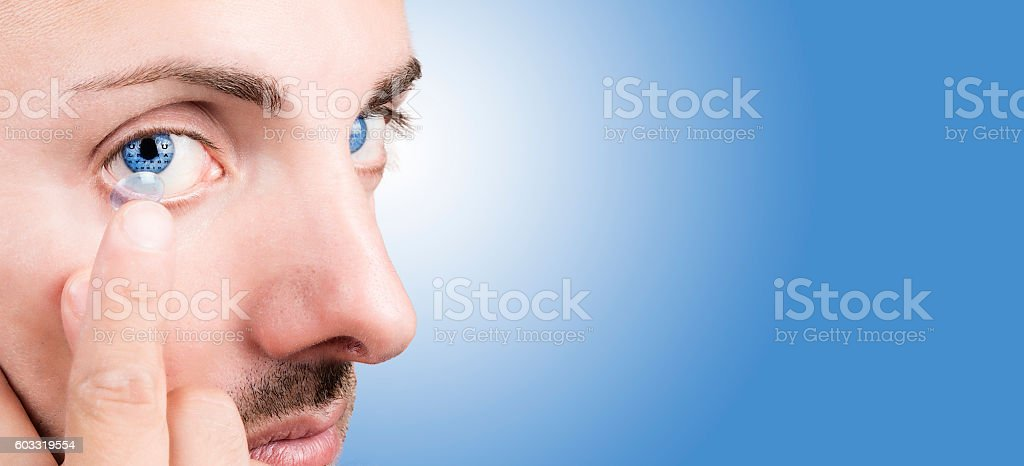 Contact lenses for vision correction stock photo