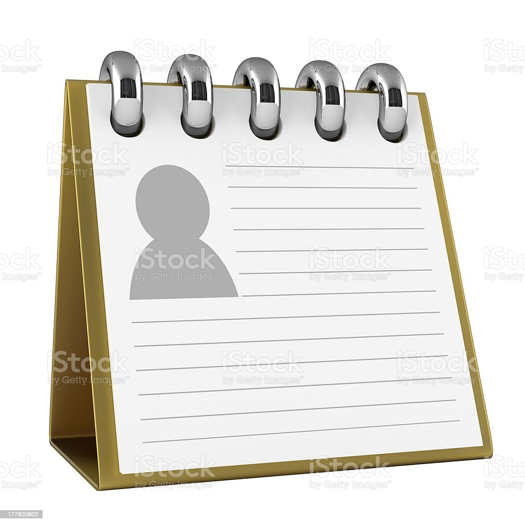 Contact List stock photo