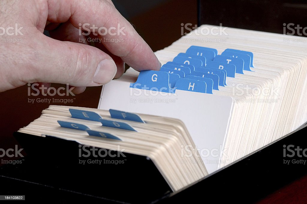 Contact List royalty-free stock photo