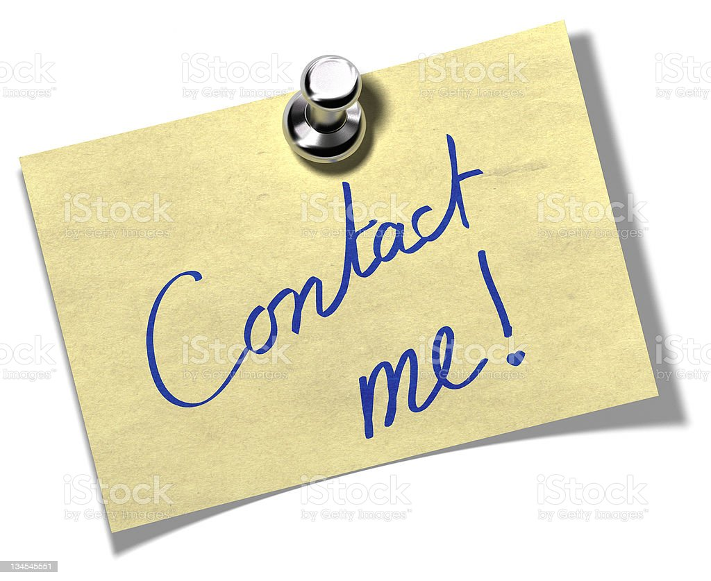 contact me memo note royalty-free stock photo