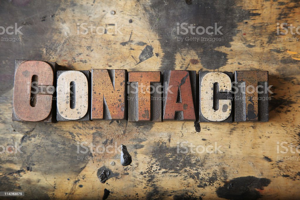 Contact... royalty-free stock photo