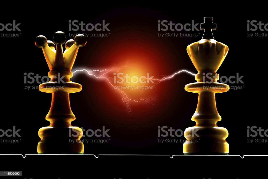 Contact (chess - a metaphor) royalty-free stock photo