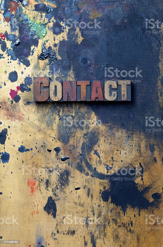 Contact royalty-free stock photo