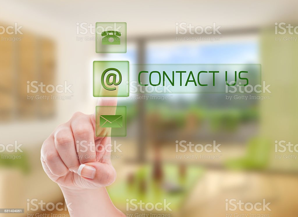 Contact real estate agency concept stock photo