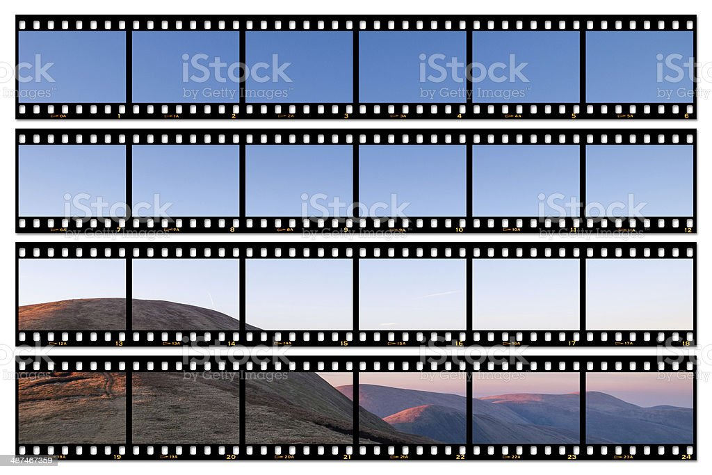 Contact sheet image: Yorkshire Dales at sunset stock photo