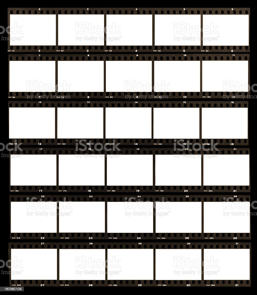 Contact sheet paper in black and white stock photo