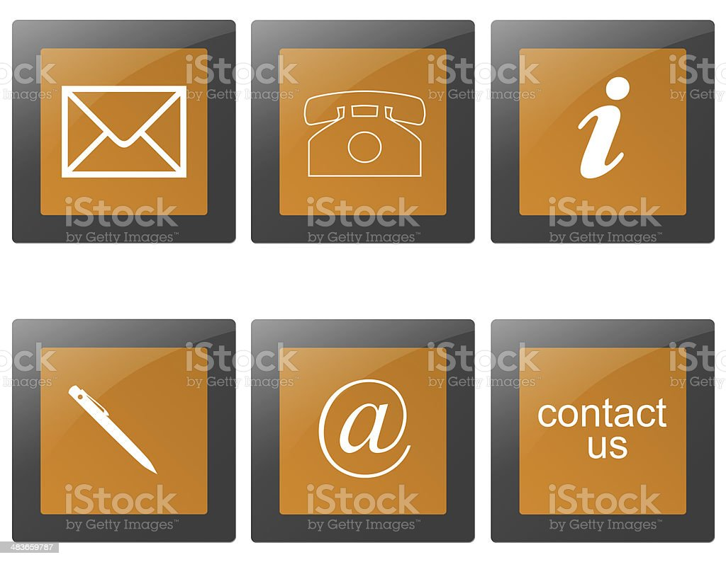 contact signs stock photo