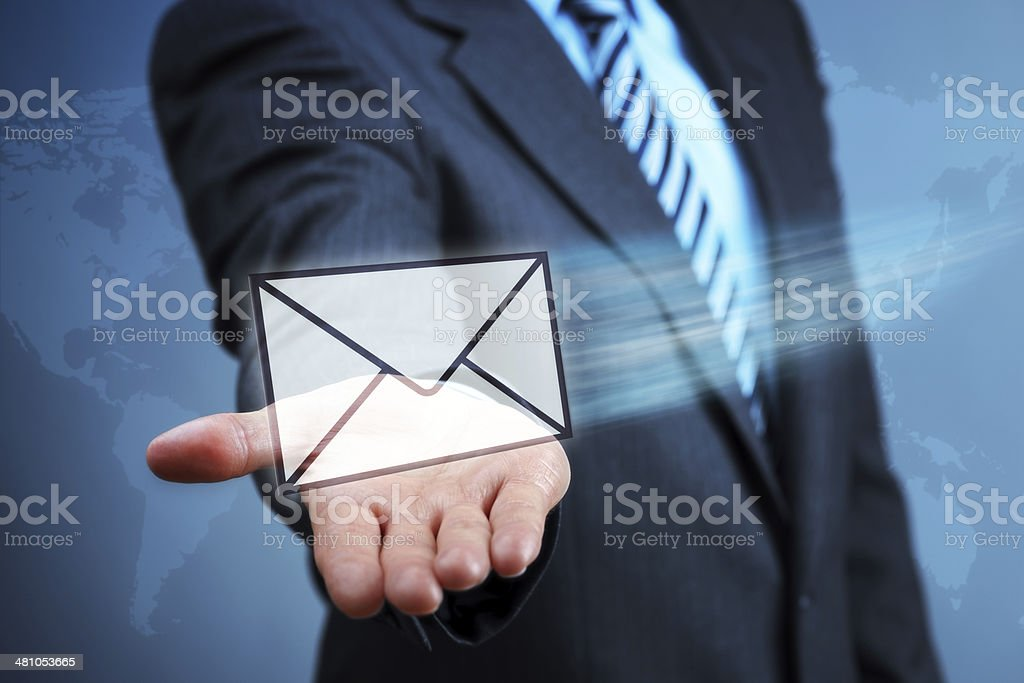 Contact us by e-mail stock photo