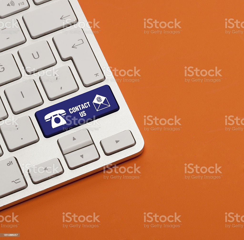 Contact Us Concept on Keyboard royalty-free stock photo