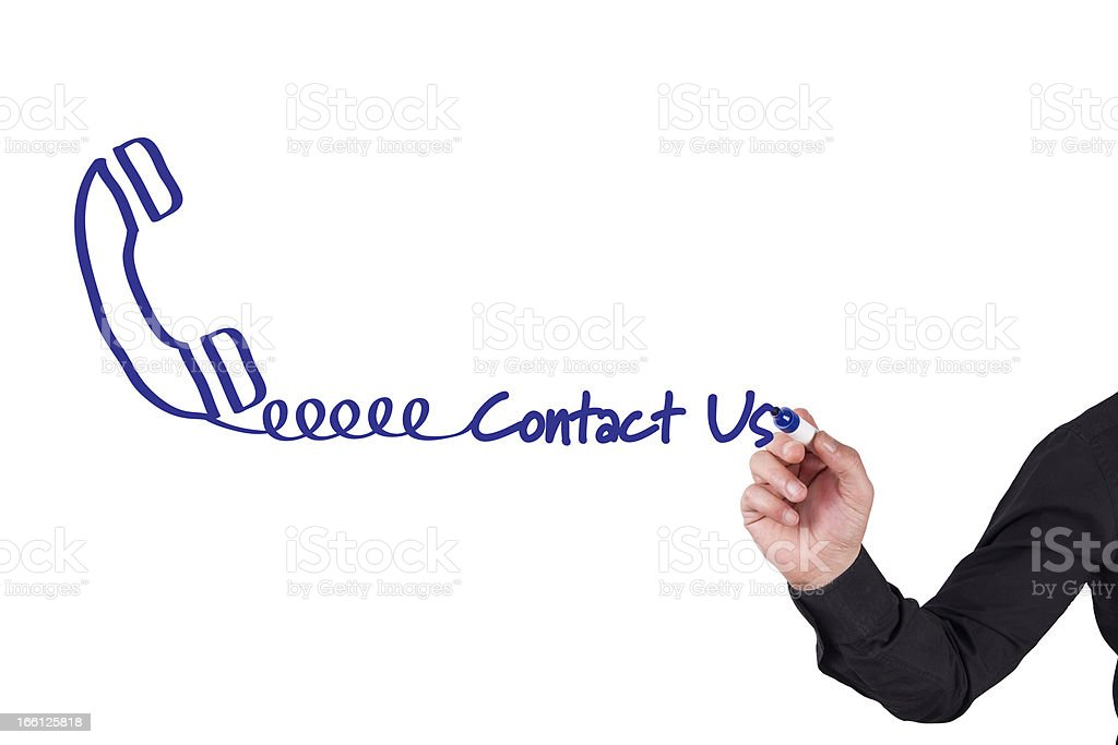 Contact Us Concept royalty-free stock photo