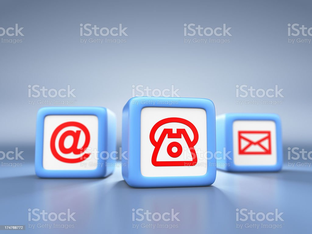 Contact Us Cubes XL+ royalty-free stock photo