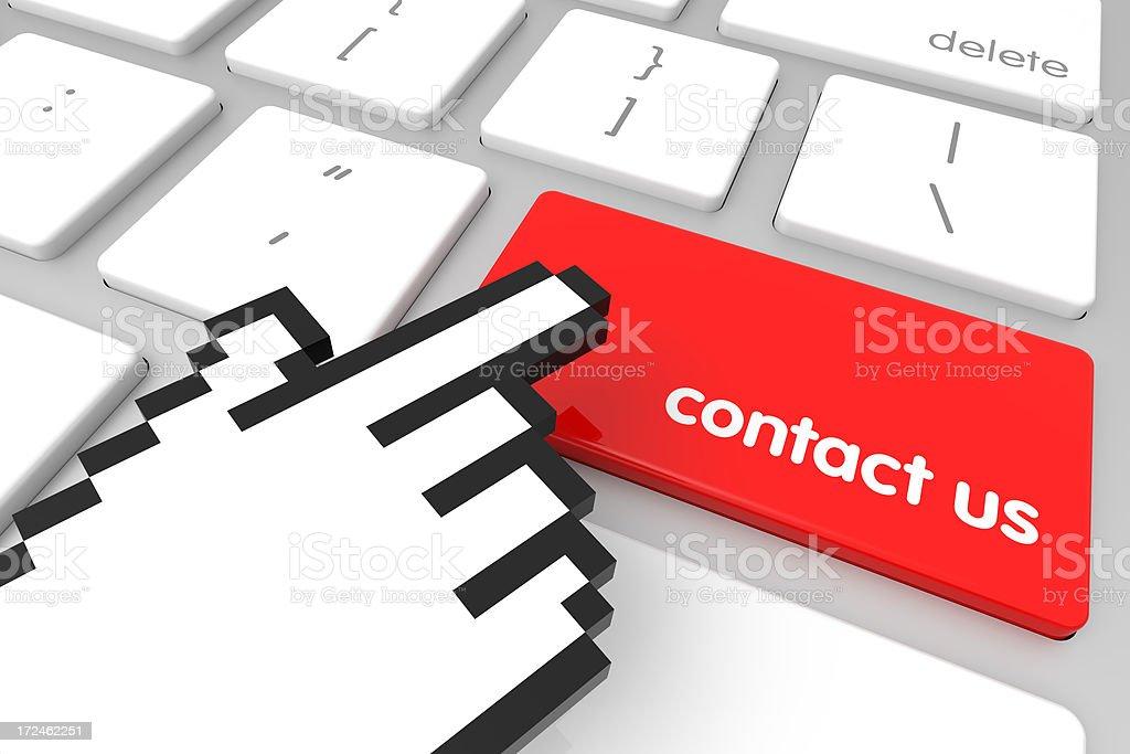 Contact Us Enter Key royalty-free stock photo