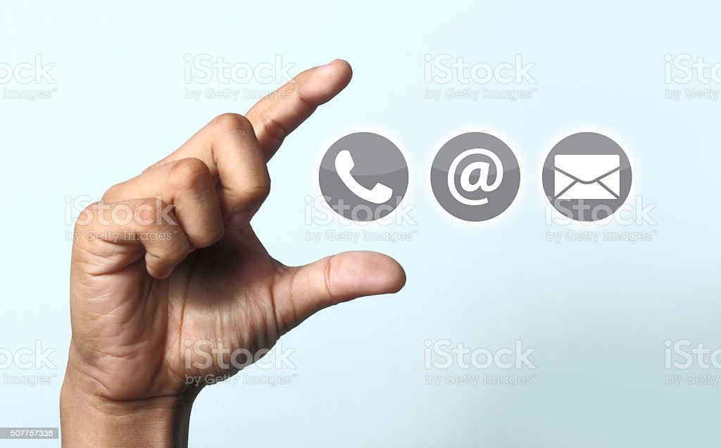 Contact us icon stock photo