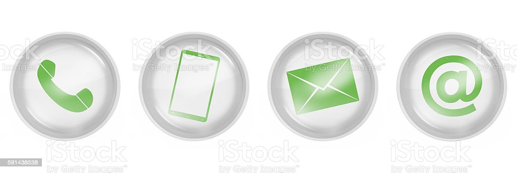 contact us icons design isoloated stock photo