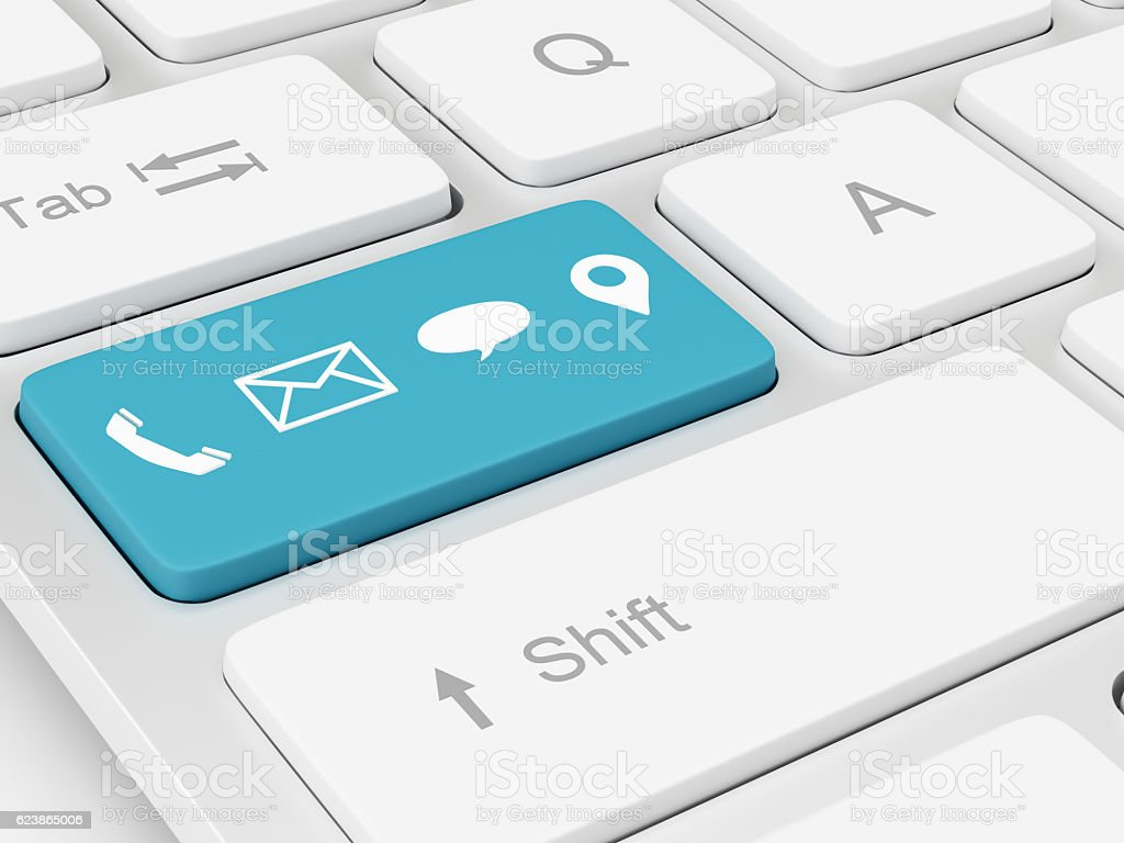 Contact Us Icons Keyboard stock photo