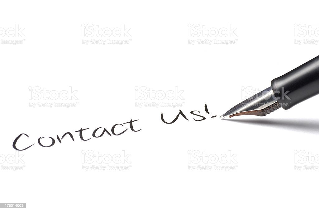 Contact Us! royalty-free stock photo