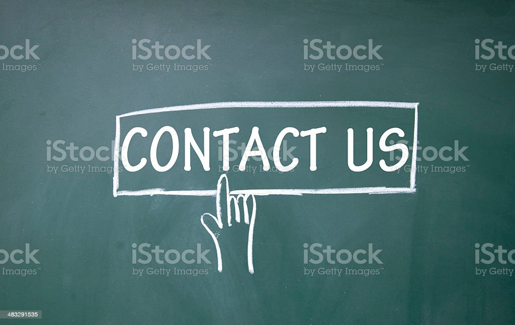 contact us sign stock photo