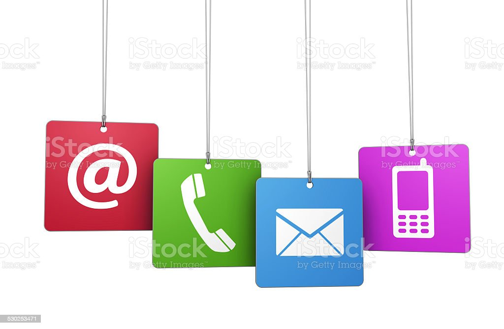 Contact Us Web Concept stock photo