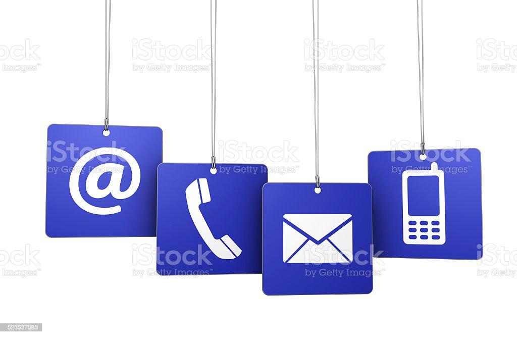 Contact Us Web Internet Tags stock photo