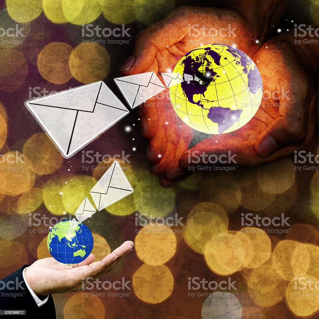 Contact us with email concept stock photo