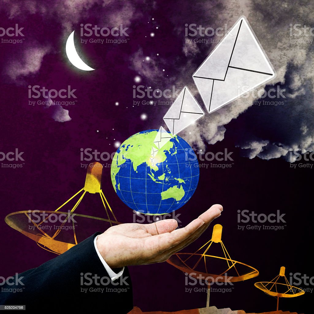 Contact us with email stock photo