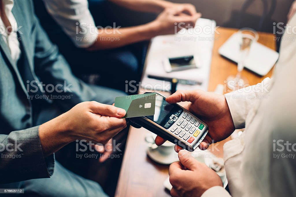 Contactless Card Payment stock photo