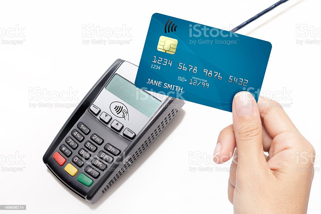 contactless credit card stock photo