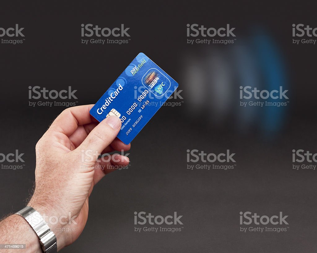NFC - Contactless payment stock photo