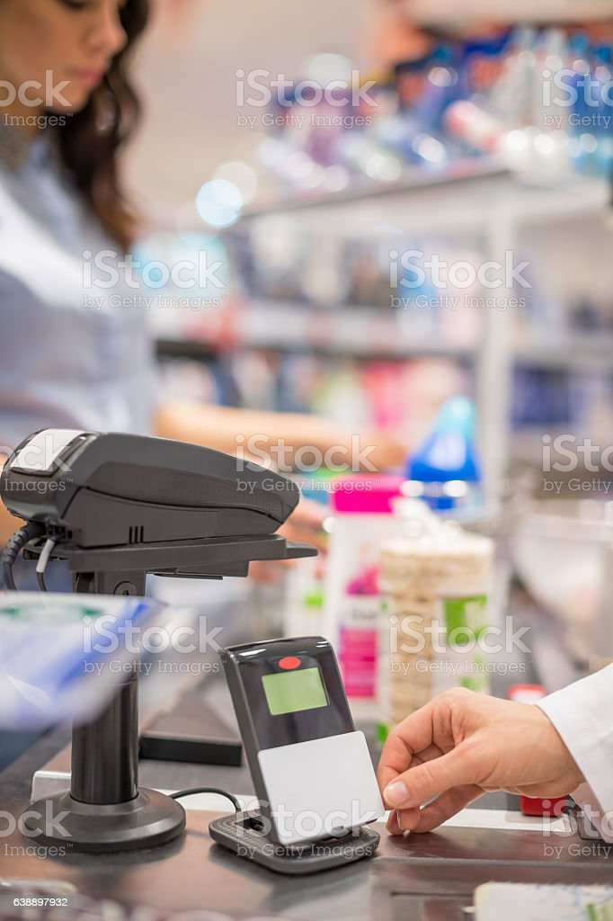 Contactless payment stock photo