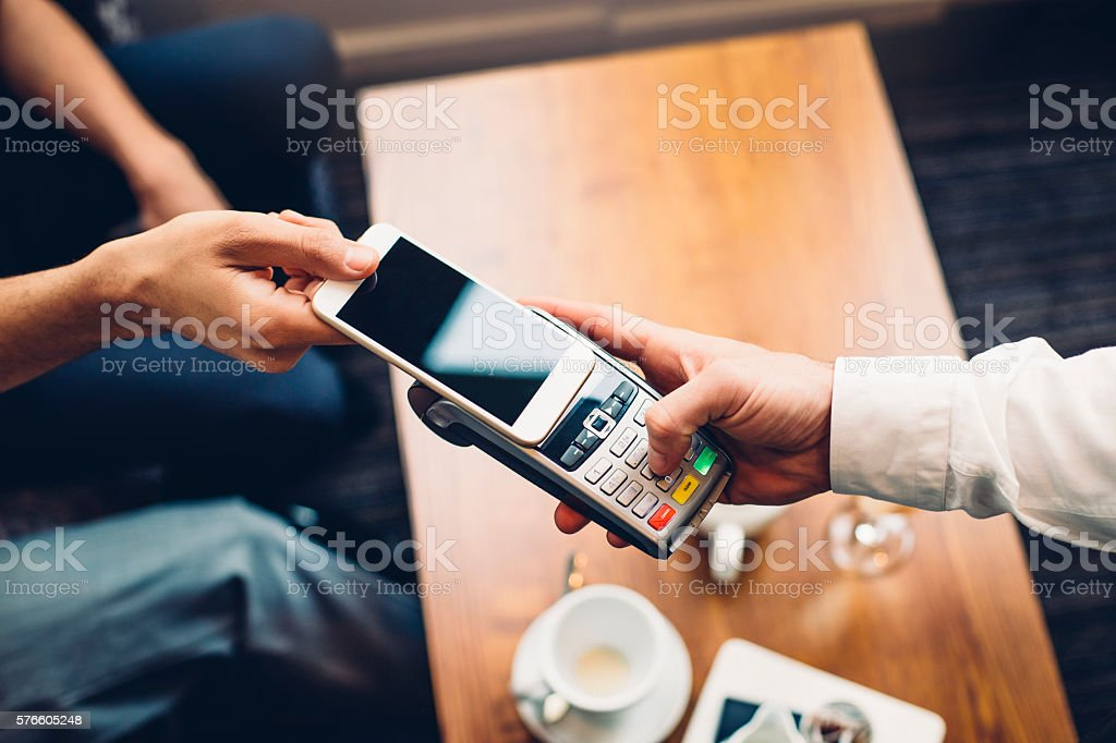Contactless Smartphone Payment stock photo