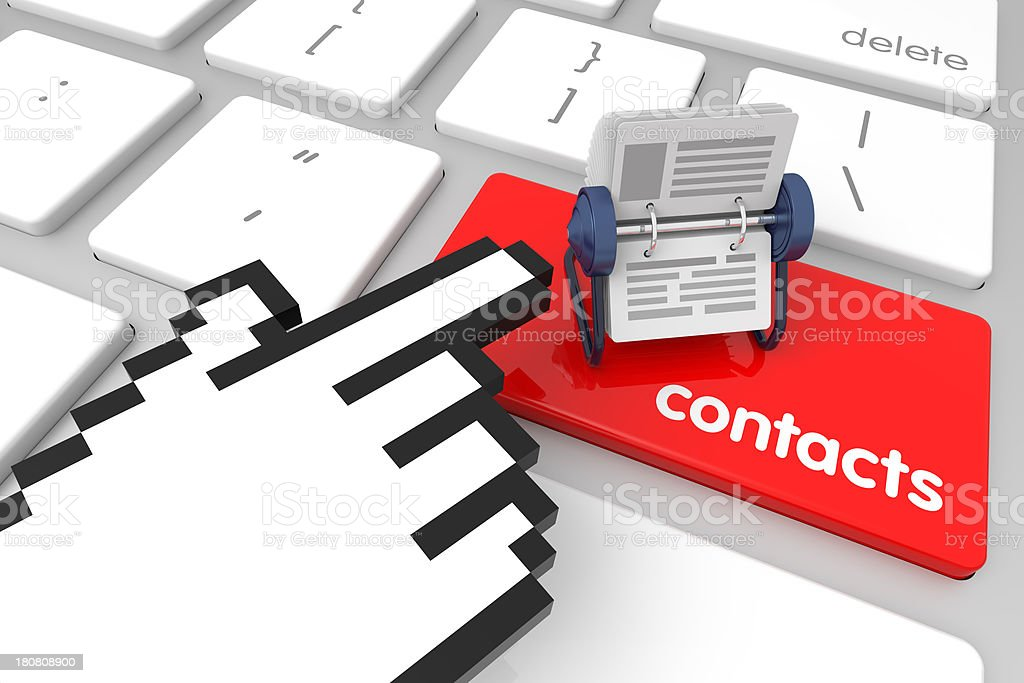 Contacts Enter Key stock photo