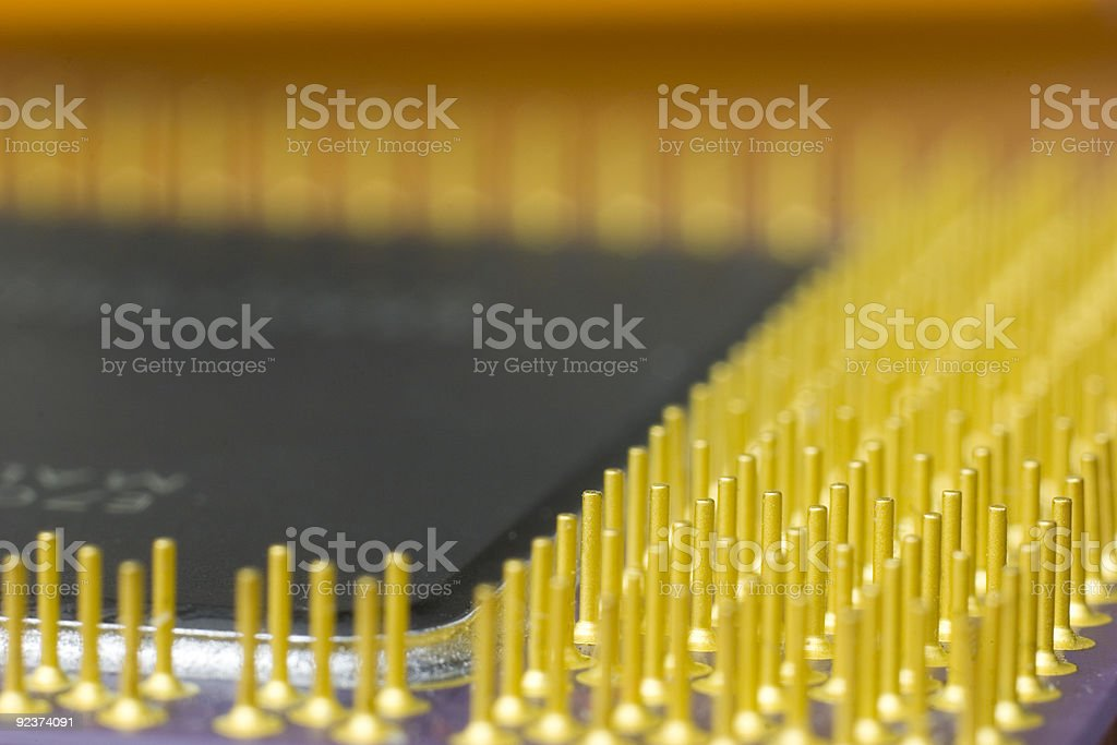 CPU contacts, macro stock photo