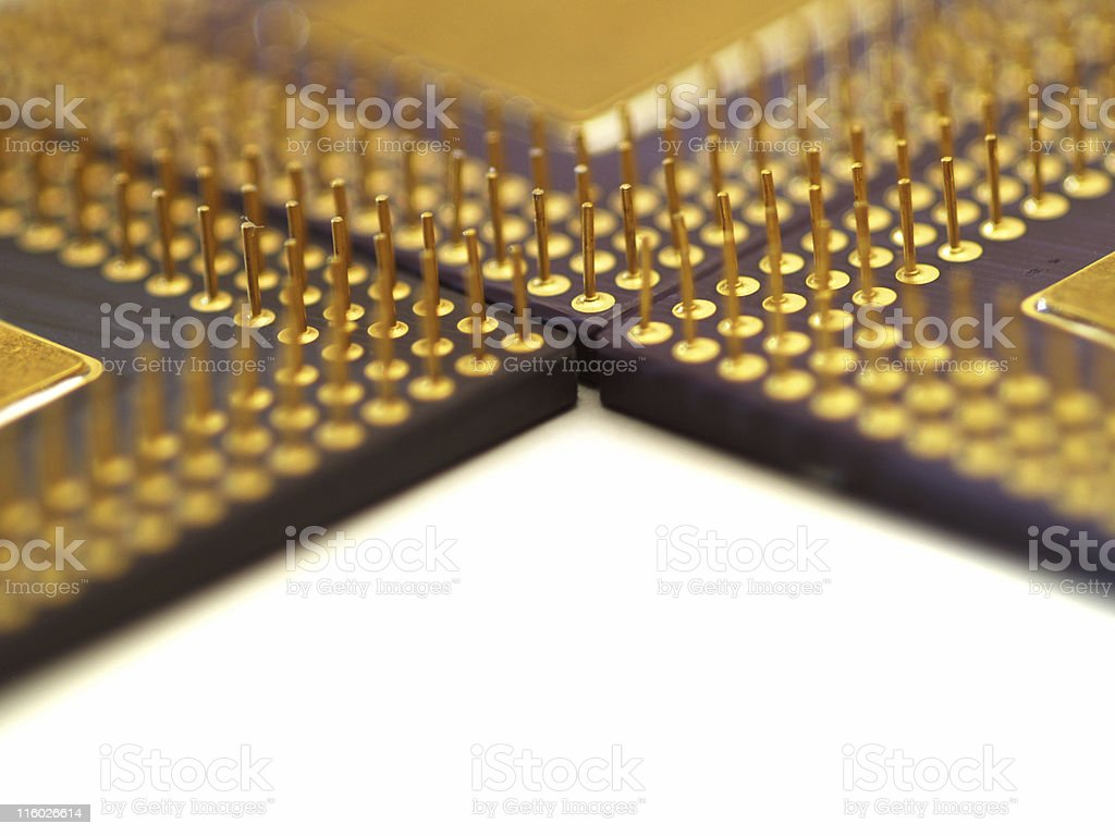 Contacts od Central processing units royalty-free stock photo