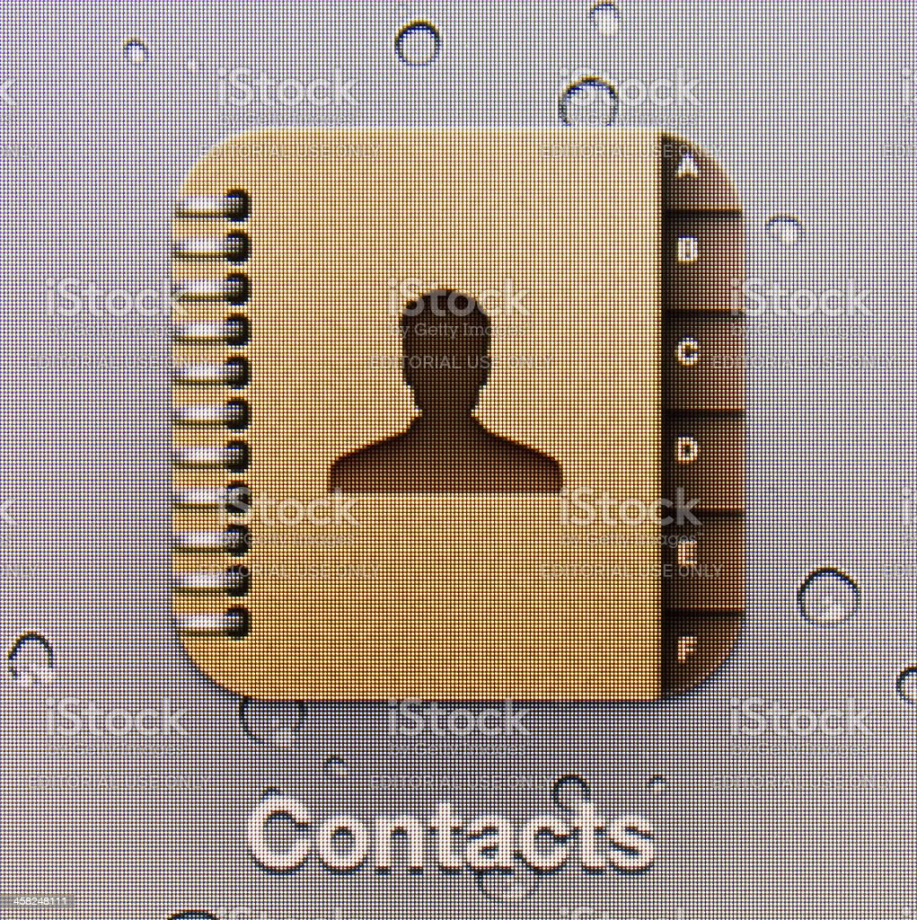 Contacts royalty-free stock photo