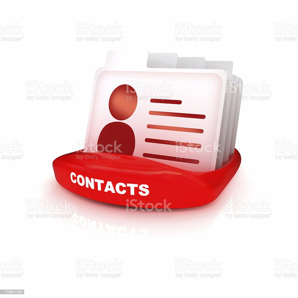 Contacts Tabs stock photo