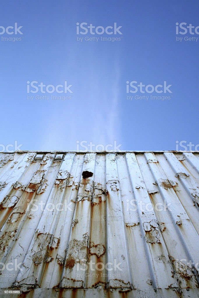 Container and blue sky stock photo