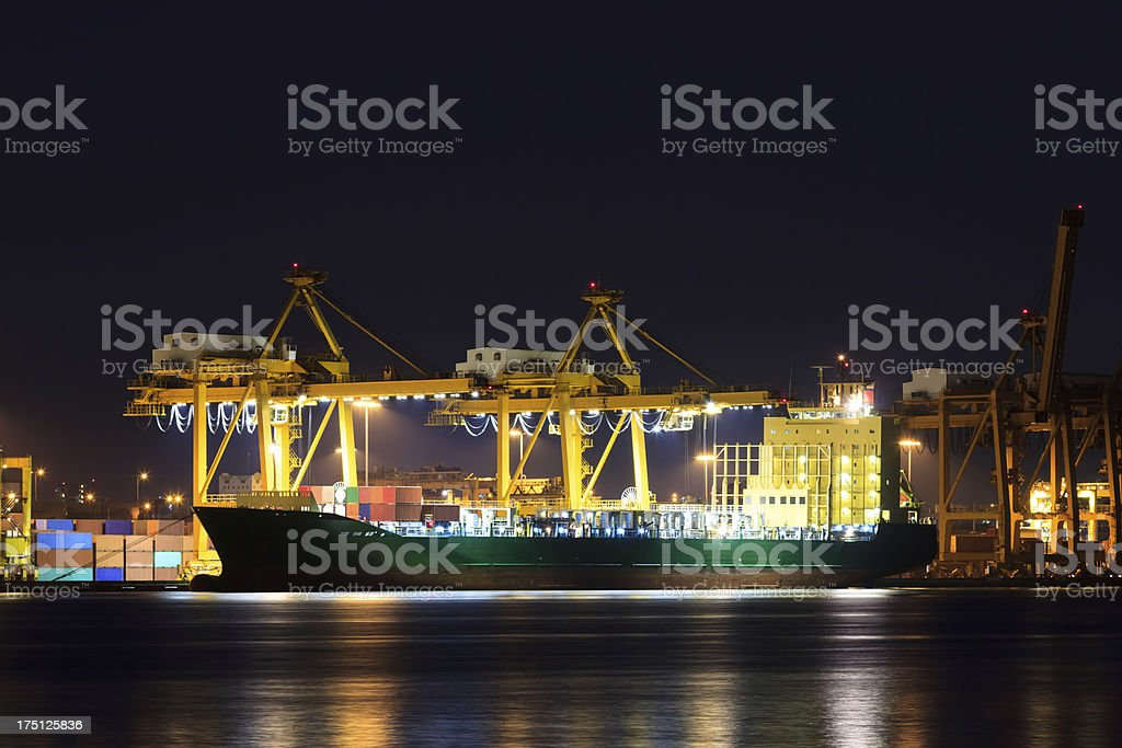 Container cargo freight ship at port royalty-free stock photo