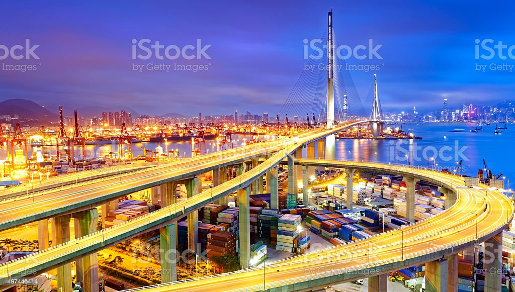 Container Cargo freight ship stock photo
